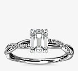Petite Twist Diamond Engagement Ring