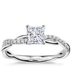 Has Matching Band Pee Twist Diamond Engagement Ring