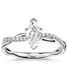 has matching band petite twist diamond engagement ring - Marquise Wedding Rings