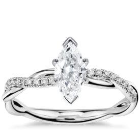 has matching band petite twist diamond engagement ring - Marquise Wedding Rings