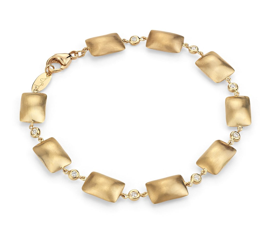 Pillow Talk Diamond Bracelet in 14k Yellow Gold