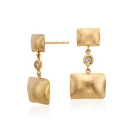 Pillow Talk Diamond Earrings in 14k Yellow Gold