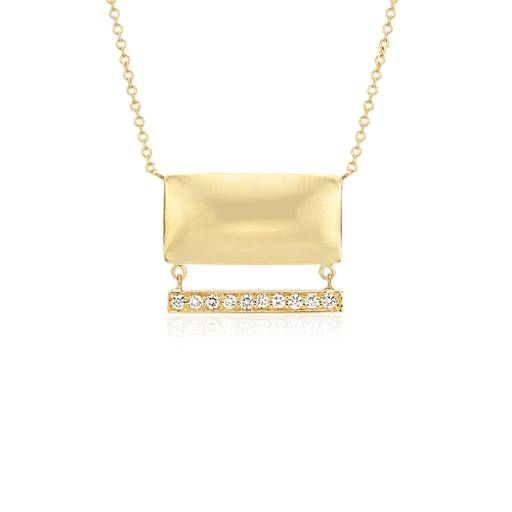 pillow talk diamond necklace in 14k yellow gold blue nile