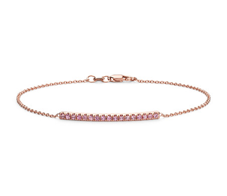 Blue Nile Delicate Diamond Bar Bracelet in 14k Rose Gold (1/5 ct. tw.) 70Olr4R1gP