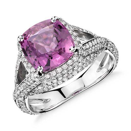 Blue Nile Pink Sapphire Engagement Ring