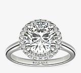 简洁悬浮光环订婚戒指环