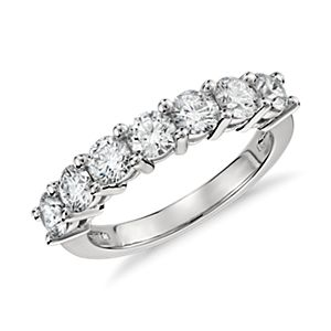 Blue Nile Signature Seven Stone Diamond Ring in Platinum (1.50 ct. tw.)