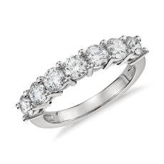 鉑金 Blue Nile 精選級五石鑽石戒指(1.50 克拉總重量)