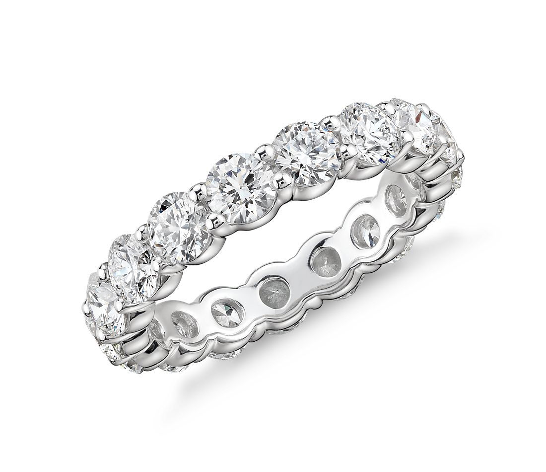 Blue Nile Signature Comfort Fit Diamond Eternity Ring in Platinum (3 ct. tw.)