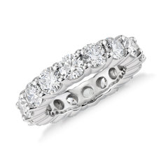 Blue Nile Signature Comfort Fit Diamond Eternity Ring in Platinum (3 5/8 ct. tw.)
