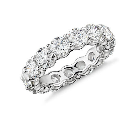Blue Nile Signature Comfort Fit Diamond Eternity Ring in Platinum (5 ct. tw.)