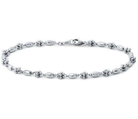 Blue Nile Faceted Cluster Bracelet in Platinum eXUEXg2