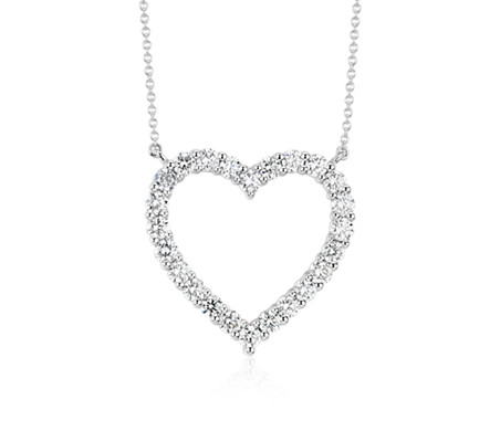 products heart necklace platinum solitaire shape mirabess large diamond in