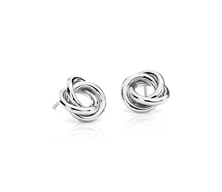 Love Knot Earrings in Platinum