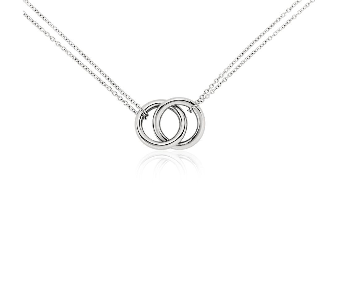 Infinity Rings Necklace in Platinum