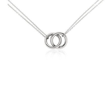 listing dual rings circle promise ring il collection necklace