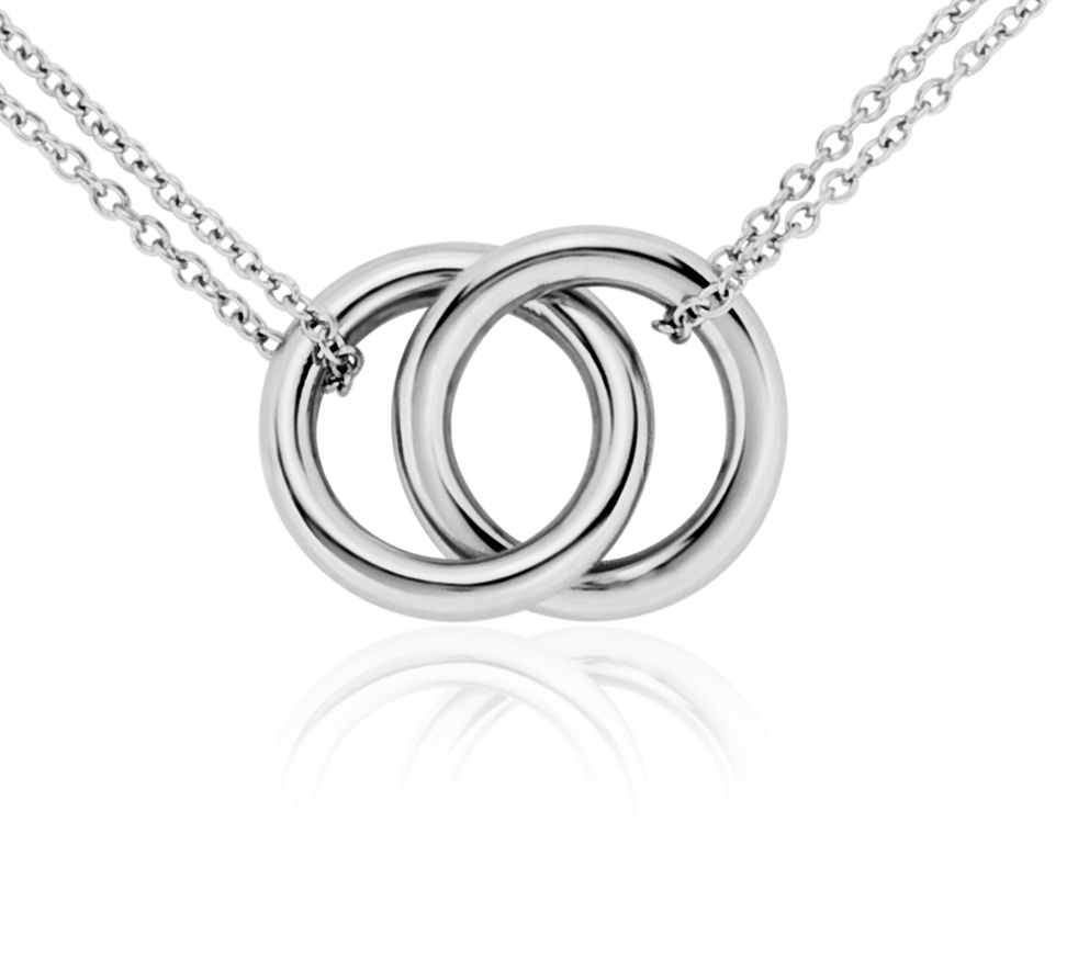 铂金无限式多圈项链