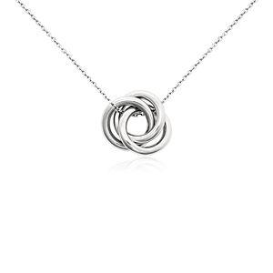 Love Knot Pendant in Platinum