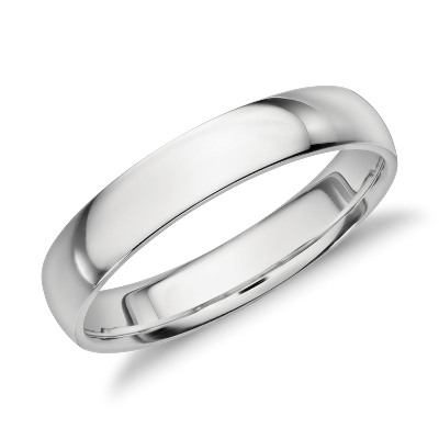 Midweight Comfort Fit Wedding Band in Platinum 4mm Blue Nile