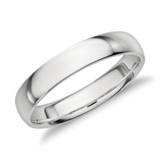 Merveilleux Mid Weight Comfort Fit Wedding Band In Platinum (4mm)
