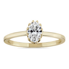 NEW Platt Boutique Jewellery 'Heirloom' Claw-Set Diamond Engagement Ring in 18k Yellow Gold