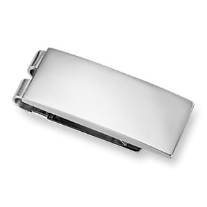 Polished Money Clip in Stainless Steel