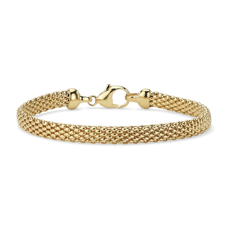 Popcorn Chain Bracelet in 14k Yellow Gold