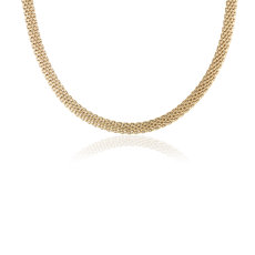 Popcorn Chain Necklace in 14k Yellow Gold