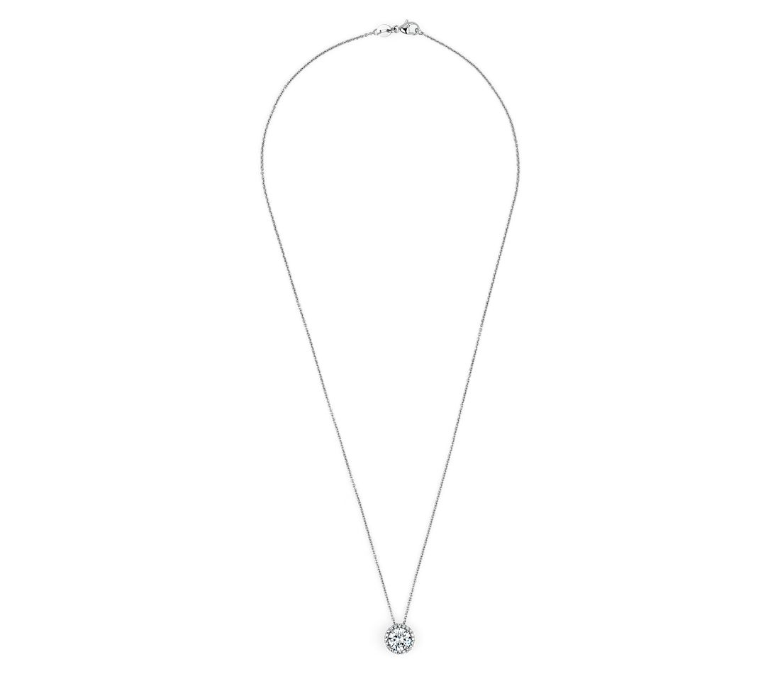 The Gallery Collection™ Diamond Halo Pave Pendant Setting in Platinum