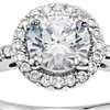 3/4 Carat Preset Classic Halo Diamond Engagement Ring in 14k White Gold