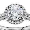 1 Carat Preset Classic Halo Diamond Engagement Ring in 14k White Gold