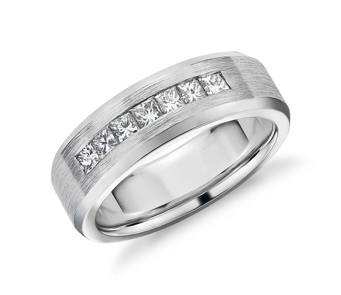 Princess-Cut Channel-Set Diamond Wedding Band in 14k White Gold (3/4 ct. tw.)