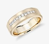 Princess-Cut Channel-Set Diamond Wedding Ring