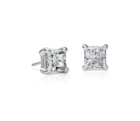 Essential Princess-Cut Diamond Earrings in 14k White Gold (3 ct. tw.)