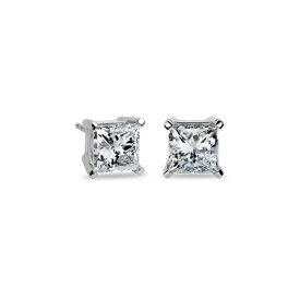 Princess-Cut Diamond Stud Earrings in Platinum (4 ct. tw.)