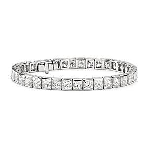 Princess Cut Channel Set Diamond Tennis Bracelet in Platinum  (26 ct. tw.)