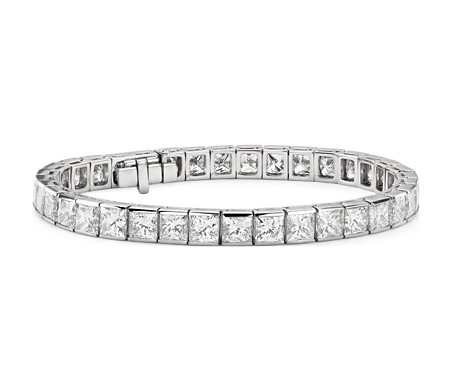 Princess Cut Channel Set Diamond Tennis Bracelet in Platinum  (26 ct. tw.)