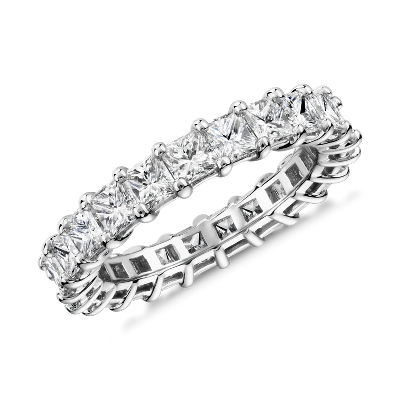 新款 鉑金 公主方形鑽石永恆戒指 <br>(3.0 克拉總重量)