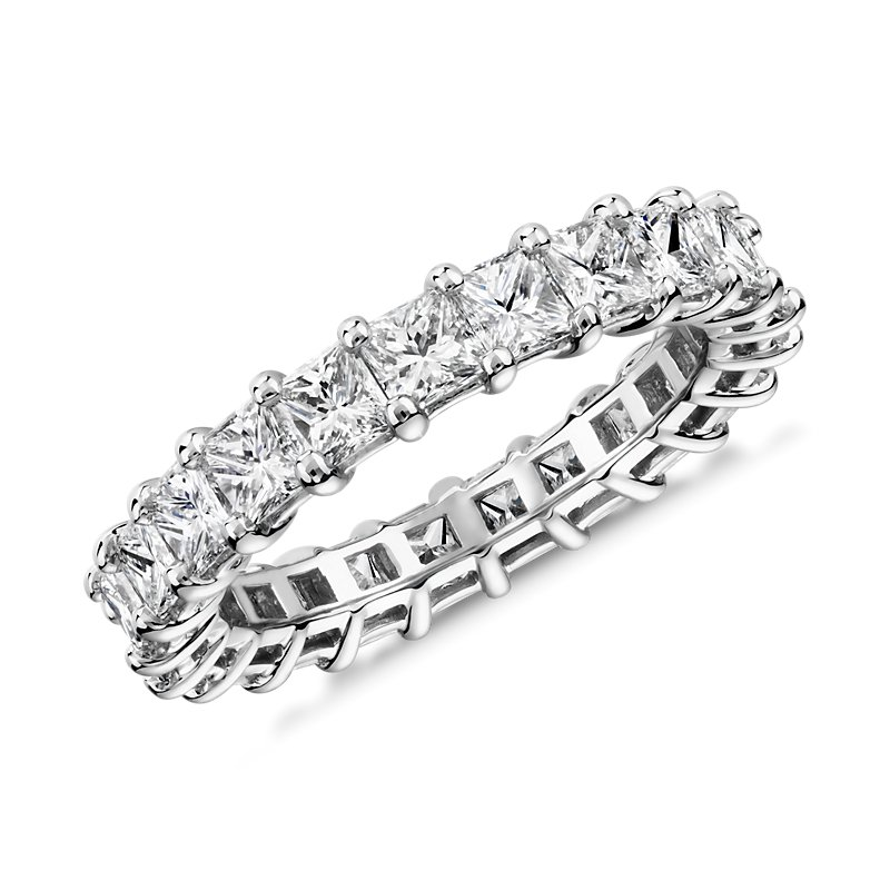 Princess Cut Diamond Eternity Ring in Platinum (3.0 ct. tw.)
