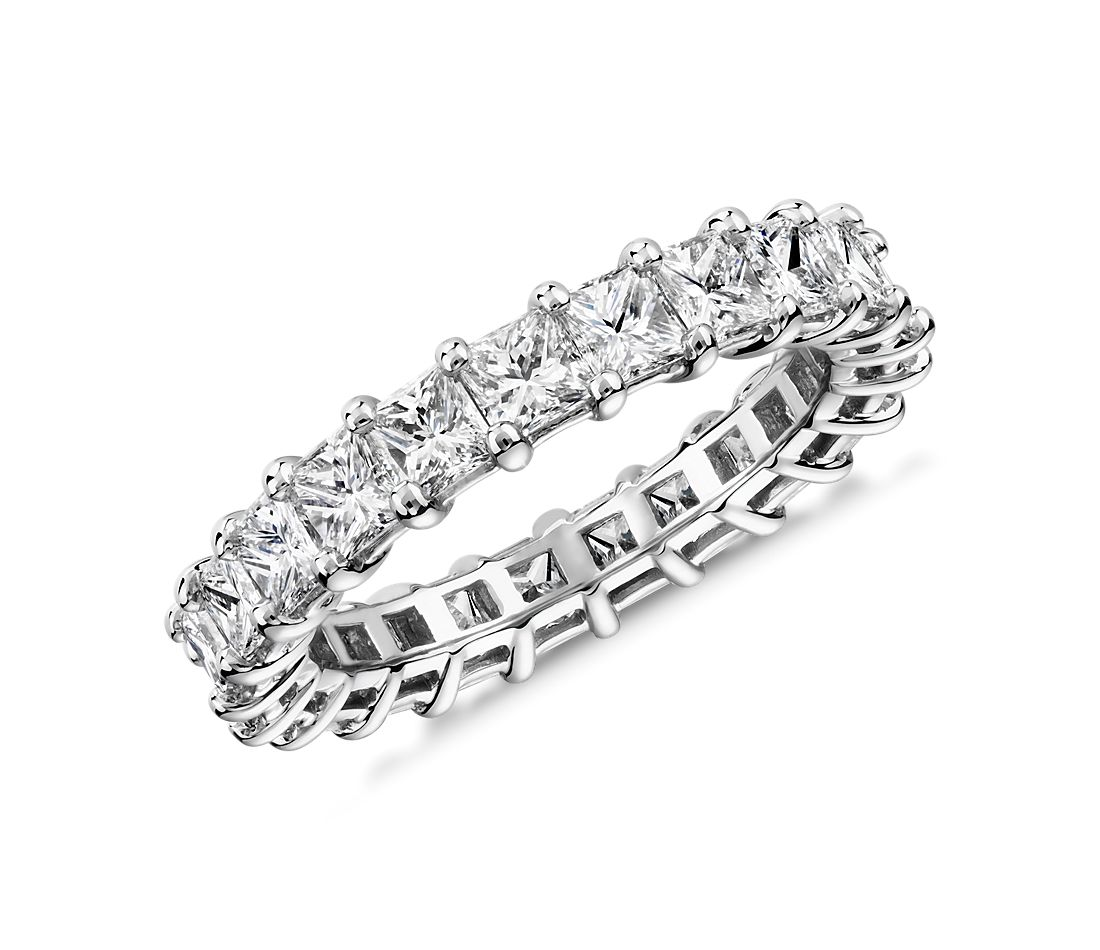 Princess Cut Diamond Eternity Ring in Platinum (3.0 ct. tw.)