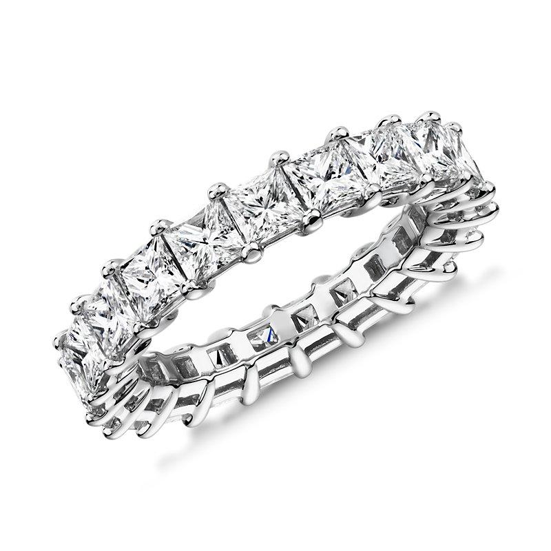 Princess Cut Diamond Eternity Ring in Platinum (4.0 ct. tw.)