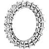 Princess Cut Diamond Eternity Ring in Platinum (4.0 ct. tw.)