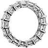 鉑金公主方形鑽石永恆戒指( 5.50 克拉總重量)