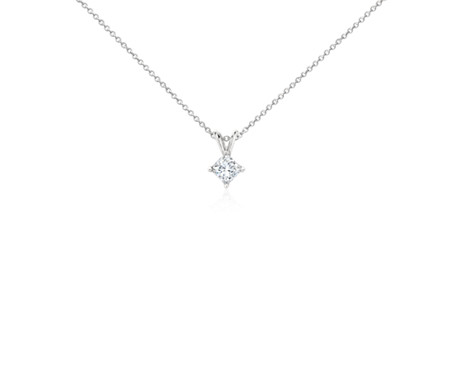 p in princesscut ct platinum v certified diamond solitaire i cut pendant princess