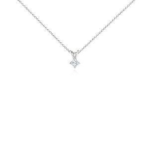 Platinum Four-Claw Princess Diamond Pendant (1/4 ct. tw.)