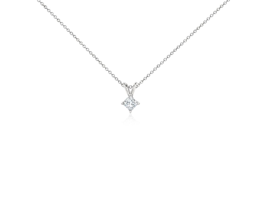 Platinum Four-Claw Princess Diamond Pendant (0.30 ct. tw.)