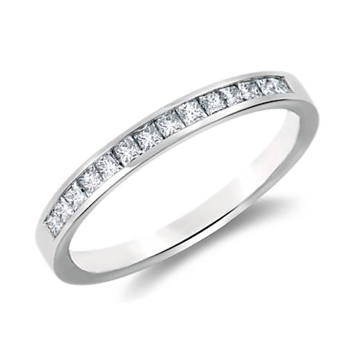 tw w in ct white band gold anniversary p princess stone five cut diamond v t bands princesscut
