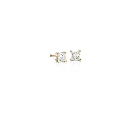 Blue Nile Princess Diamond Stud Earrings in 14k Yellow Gold (1/2 ct. tw.) tHjKSvz8Xf