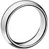 Comfort Fit Wedding Ring in Grey Tungsten Carbide (6mm)