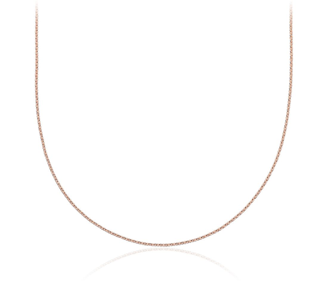 Cable Chain in 14k Rose Gold